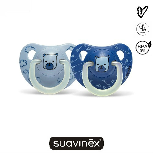dental fopspeen glow in the dark suavinex blauw