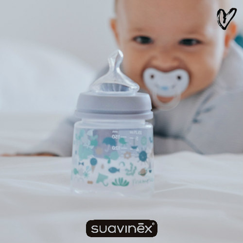 suavinex sx pro zuigfles medium flow memories blauw 150ml via Liefsjill.nl