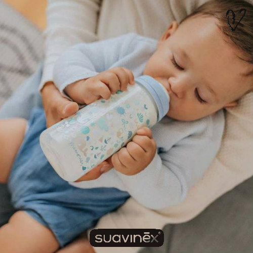 suavinex sx pro zuigfles medium flow memories blauw 270ml via Liefsjill.nl